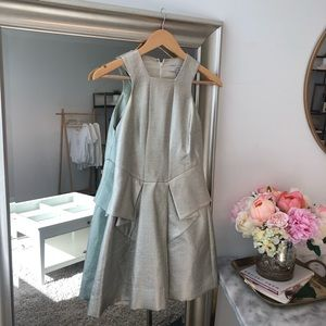 Robert Rodriguez Metallic Laminated Dress